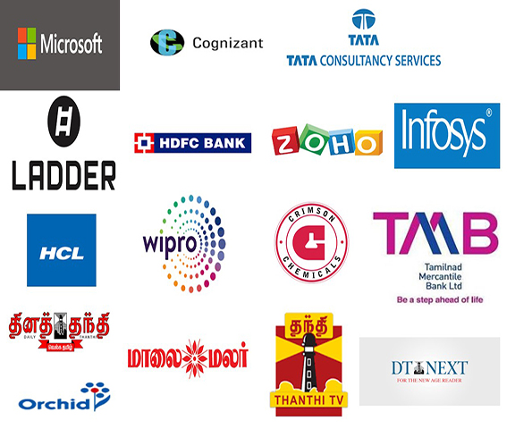 Our Students Placed in Above Companies